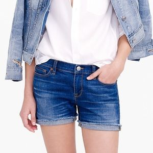 J. Crew Denim Shorts In Dark Von Wash